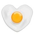 Fried Egg heart shape vector image