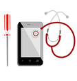 Mobile health care vector image