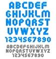 Ribbon font vector image