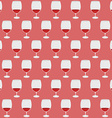 Vintage pattern with red wine glass silhouettes vector image