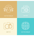 set of wedding photography logo design templates vector image vector image