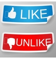 Like and unlike label vector image vector image
