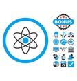 Atom Flat Icon with Bonus vector image