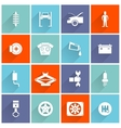 Auto Service Flat Icon vector image