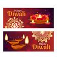 diwali banners set vector image