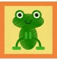 flat shading style icon Cute frog cartoon vector image