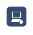 icon remove computer vector image