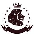 lion head insignia vector image