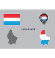 Map of Luxembourg and symbol vector image