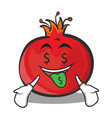 Money mouth pomegranate cartoon character style vector image