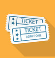 pair of vintage cinema tickets vector image