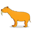 Saber toothed tiger vector image