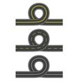 Set of roads with loop vector image