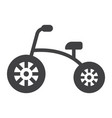 tricycle solid icon bike and toy vector image