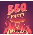The grill and meat vector image