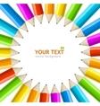 rainbow pencils frame vector image