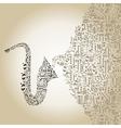 Saxophone5 vector image vector image