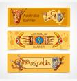 Australia sketch banners horizontal vector image