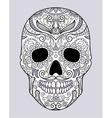 skull in different monograms original design vector image