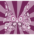stylized butterfly vector image
