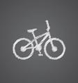bike sketch logo doodle icon vector image