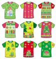 Christmas funky t-shirts vector image