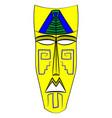 ethnic tribal mask cartoon flat vector image