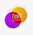 festa junina elegant background design vector image