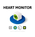 Heart monitor icon in different style vector image