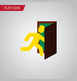 isolated evacuation flat icon open door vector image