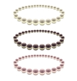 Pearls Bead Decoration Set vector image