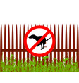 prohibition sign dog crapping vector image