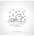 Rubber duck icon flat line design icon vector image