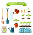 Set of agriculture objects Instruments for vector image