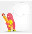 Funny Monster Writer vector image