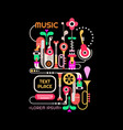 abstract music design vector image