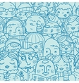 People in a crowd seamless pattern background vector image