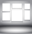 blank canvases in room interior 2202 vector image