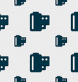 35 mm negative films icon sign Seamless pattern vector image