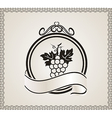 retro label for packing wine - vector image vector image