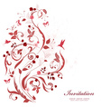 romantic floral ornament for your design happy vector image vector image