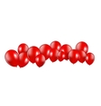 Set of Red Balloons vector image vector image