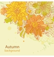 Orange autumn perfect background vector image