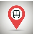 red signal of bus isolated icon design vector image