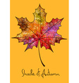 Autumn maple leaf made of mosaic vector image