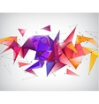 abstract crystal 3d faceted geometric vector image