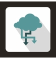 Cloud and arrows icon flat style vector image
