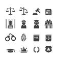Law icon vector image
