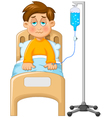 little boy was impus in the hospital vector image