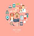 Pet care icon concept Flat design vector image